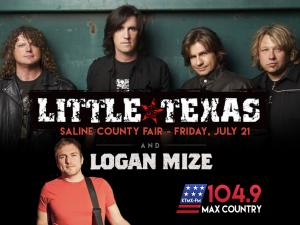 Little Texas and Logan Mize @ Saline County Fair | Crete | Nebraska | United States