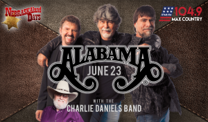 Alabama with Charlie Daniels Band @ NEBRASKAland Days | North Platte | Nebraska | United States