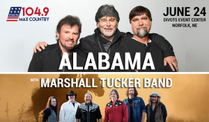 Alabama with the Marshall Tucker Band @ Divots Event Center | Norfolk | Nebraska | United States