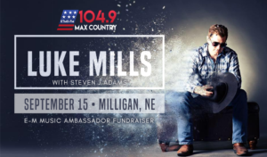 Luke Mills at the E-M Music Ambassador Fundraiser @ Milligan Auditorium | Milligan | Nebraska | United States