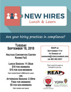 NEW HIRES LUNCH & LEARN @ Holthus Convention Center | York | Nebraska | United States