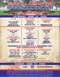 SHICKLEY SUMMER EVENTS-50 flags Veterans Memorial Fundraiser/Longhorn Days