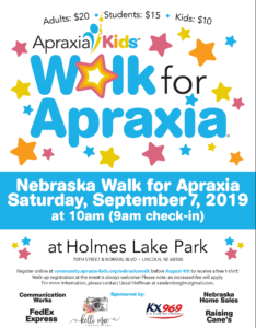 NEBRASKA WALK FOR APRAXIA