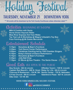 HOLIDAY FESTIVAL DOWNTOWN YORK