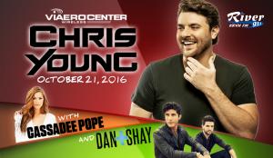 Chris Young with Dan+Shay & Cassadee Pope @ Viaero Center | Kearney | Nebraska | United States