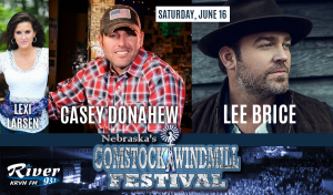Lee Brice & Casey Donahew with Lexi Larsen @ Comstock Windmill Festivall | Comstock | Nebraska | United States