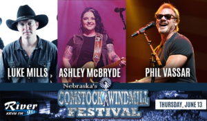 Phil Vassar   |  Ashley McBryde  |  Luke Mills @ Comstock Windmill Festivall | Comstock | Nebraska | United States