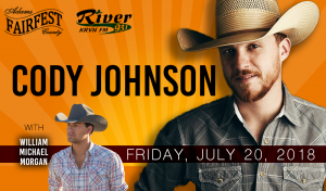 Cody Johnson with William Michael Morgan @ Adams County Fairfest | Hastings | Nebraska | United States