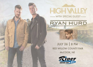 HIGH VALLEY with Special Guest Ryan Hurd @ Red Willow County Fair