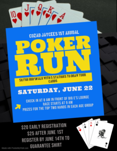 Cozad Jaycees Poker Run 5K Walk