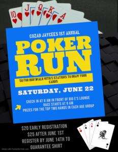 Cozad Jaycees Poker Run 5K Walk