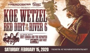 Koe Wetzel, along with Cody Canada And The Departed and Kody West @ Red Dirt on The River @ Viaero Center