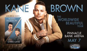 Kane Brown The Worldwide Beautiful Tour with Russell Dickerson & Chris Lane @ Pinnacle Bank Arena