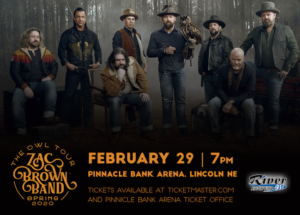 Zac Brown Band with Special guests Amos Lee and Poo Bear & Sasha Sirota @ Pinnacle Bank Arena @ Pinnacle Bank Arena