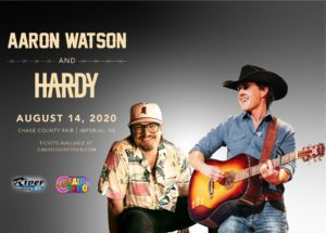 Hardy and Aaron Watson @ Chase County Fair and Expo