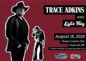 Trace Adkins with Kylie Frey @ Chase County Fair and Expo