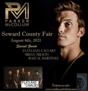 Parker McCollum with Flatland Cavalry, Brian Milson, & Rascal Martinez @ Seward County Fair