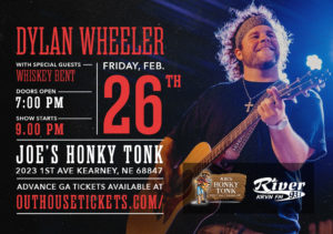 Dylan Wheeler with Whiskey Bent @ Joe's Honky-Tonk