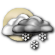 Mostly Cloudy with Scattered Snow Showers