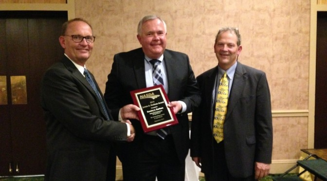 From left: NDA Director Greg Ibach, Stan Garbacz and Vermont Director of Agriculture and NASDA President Chuck Ross.