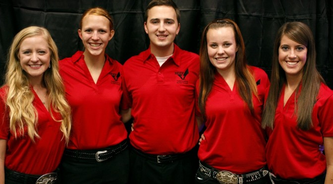 Pictured L to R: Kalyn McKibben, Rachel Purdy, Will Pohlman, Alicia Smith and Demi Snider