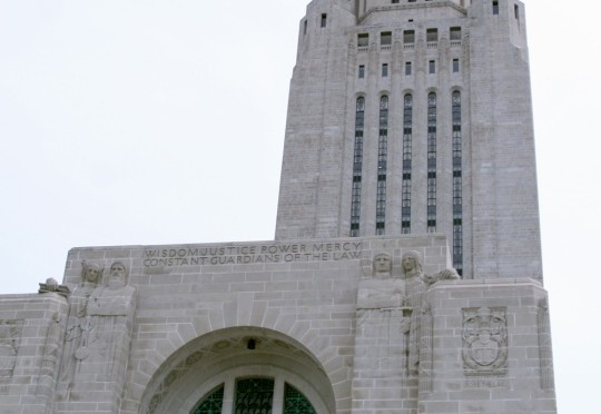 The tower at the Nebraska State Capitol Building. (Nebraska Unicameral Information Office)