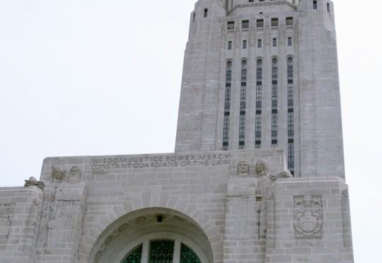 The tower at the Nebraska State Capitol Building. (Nebraska Unicameral Information Office)