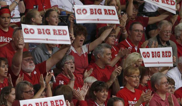 Husker fans cheer on the Nebraska Volleyball team. (NU Media Relations)