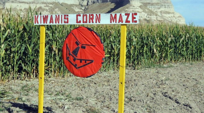Corn maze at Legacy of the Plains