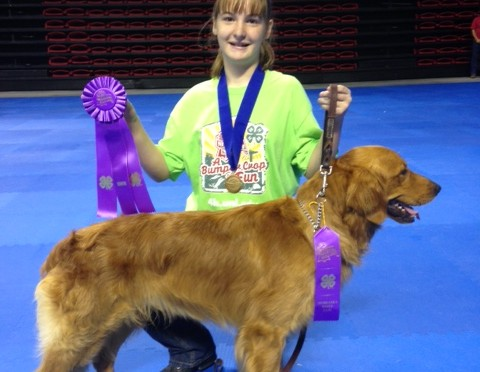 Katie Colson and her dog, Copper, earned Grand Champion in Beginning Novice Division A