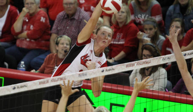 Kadie Rolfzen had 14 kills and was named the tournament MVP. (NU Media Relations)