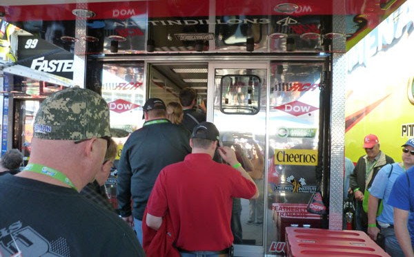 A group of Kansas mechanics got a special inside look at the #3 Austin Dillon hauler at Sunday's Sprint Cup NASCAR race at Kansas Speedway.