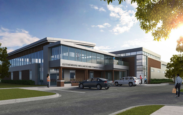 Rendering Plans for GMH and Wellness Center