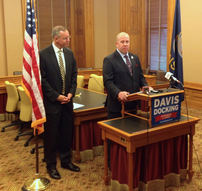 Troopers' PAC backs Davis for Kansas governor