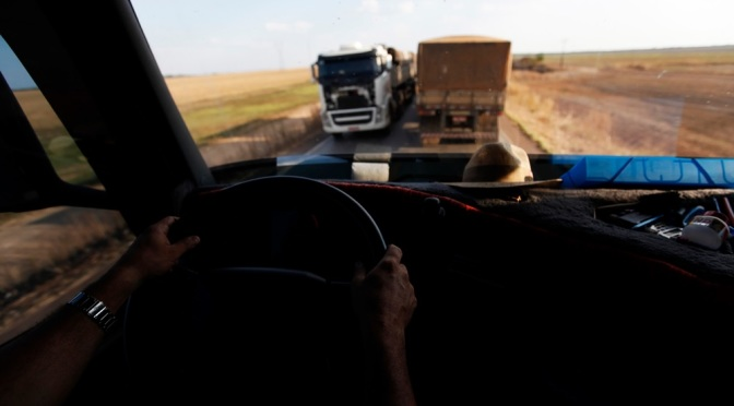 Trucker navigates Highway BR-163 in Brazil. (Photo courtesy of Reuters)