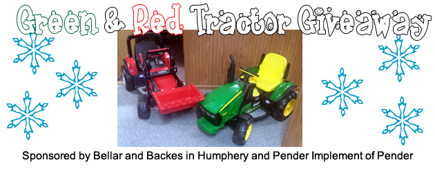 Green & Red Tractor Giveaway
