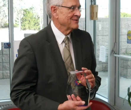 John Harms named Health Center Advocate of the Year. (Strang/RRN/KNEB)