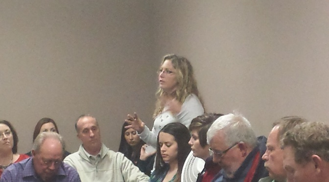 RRN/ LRHC's Nurse Anesthetist Melissa Tufford was among those addressing the LRHC board November 25, 2014 on the widening chasm between the LRHC and Plum Creek Medical Group physicians.