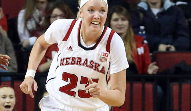 Emily Cady scored 12 for the Huskers(Photo courtesy of UNL Sports Information).