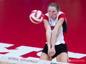 Three Husker volleyball players honored