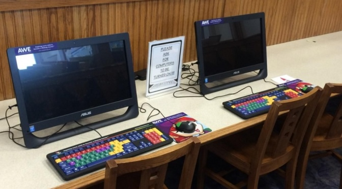 Courtesy/Wilson Public Library. AWE Edge computers
