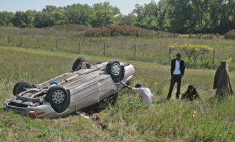 Rollover crash east of Lexington I-80 Interchange  Sept. 20, 2014
