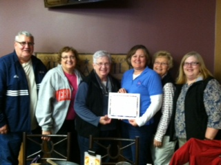 Left to right: Tom & Karen McMahon, Carol Schuetze, Tammie Harrington, Mary Ellen Kreikemeier & Elaine Snyder