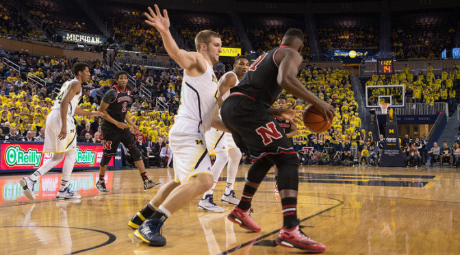 NU loses to Michigan, Photo Courtesy Michigan Media Relations