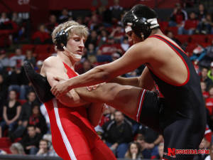 Huskers pull away from Wildcats