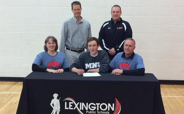 Isaac Zitterkopf, signs letter of intent. Picture courtesy, Lexington schools