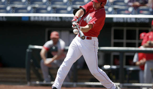 Ryan Boldt went 2-4 in a losing cause(Photo courtesy of UNL Sports Information).