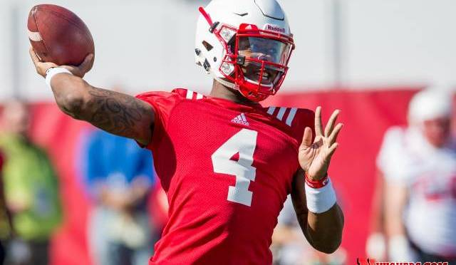 Tommie Armstrong performed well according to new head coach Mike Riley(Photo courtesy of NU Media Relations).