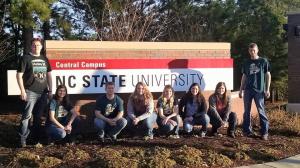 NCTA students survey PLANET landscape