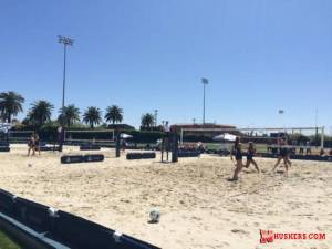 Huskers win two more sand volleyball matches